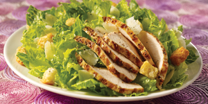 Hearts of Romaine Chicken Caesar Salad Lunch